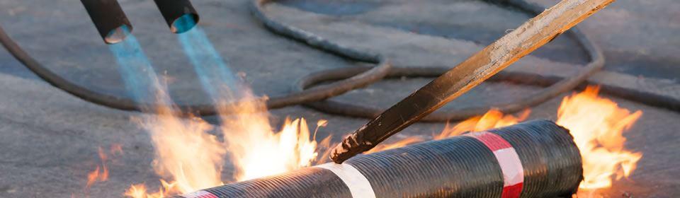 dakreparatie met brander